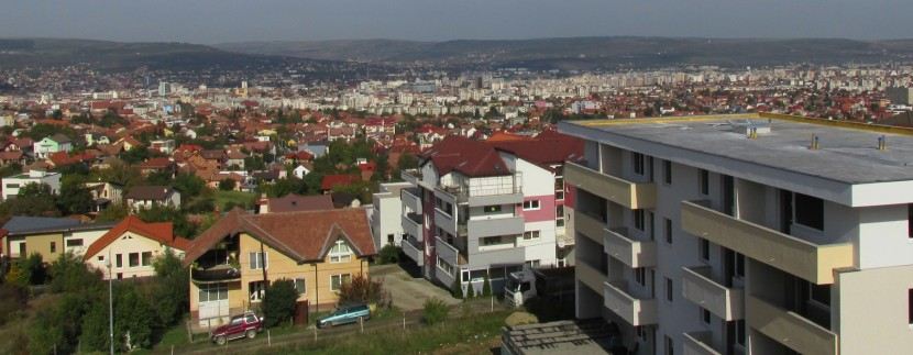 Panorama de pe terasa apartamentului 13